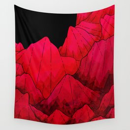 Rose red Rocks Wall Tapestry
