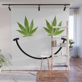 Weed Smile Wall Mural