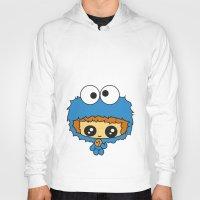 cookie monster Hoodies featuring Cookie Monster Boy  by aldarwish