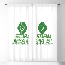 STORM AREA 51 - THEY CAN'T STOP ALL OF US Blackout Curtain