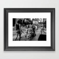 New York Street People Framed Art Print