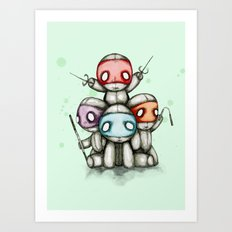 Teenage Mutant Ninja Plush Art Print
