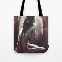 wonderland Tote Bags featuring Wonderland by NArtist_P3rhaps