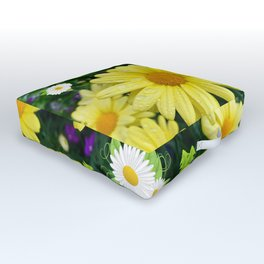 Pretty Daisies Outdoor Floor Cushion