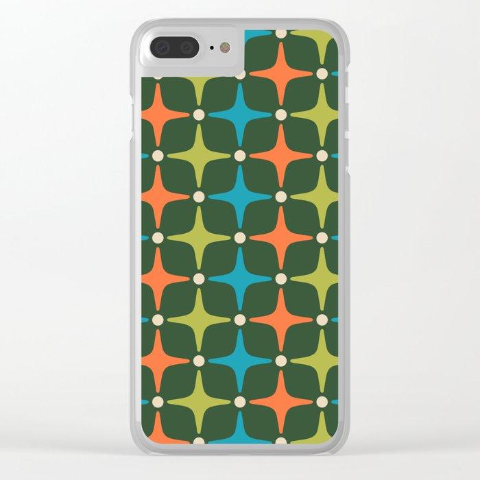 Mid Century Modern Star Pattern 934 Clear iPhone Case