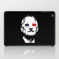 bill murray iPad Cases featuring Bill Murray 3D by Spyck