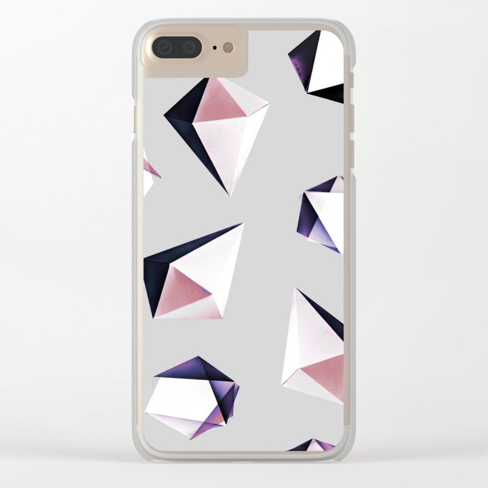 Origami #5Y Clear iPhone Case