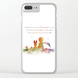 Little Prince Fox Clear iPhone Case