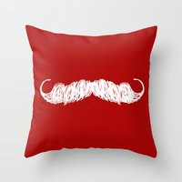 butcher billy Throw Pillows featuring The Butcher by Jason Rutherford