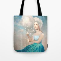 rain Tote Bags featuring Melody of Rain by Christian Schloe