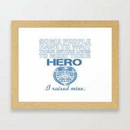 Police Officer's Mom Framed Art Print