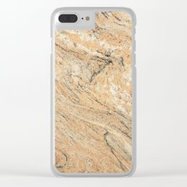 Stylish Modern Black Pastel Orange Chic Marble Pattern Clear iPhone Case