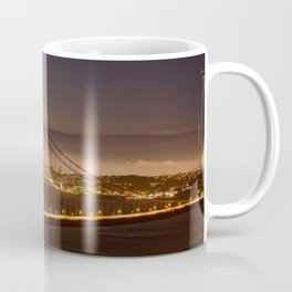 GOLDEN GATE BRIDGE & MOON PHOTO - SAN FRANCISCO NIGHT IMAGE - CALIFORNIA PICTURE - CITY PHOTOGRAPHY Coffee Mug