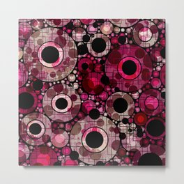 Vibrant Abstract Pink Bubbles design Metal Print