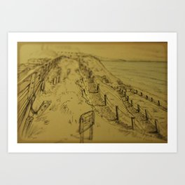 Beacons Sketch Art Print