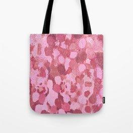 Graffiti spots in Luscious Pink Tote Bag