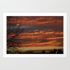 Sunset in PA Art Print