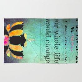 Zen Art Inspirational Buddha Quotes  Rug