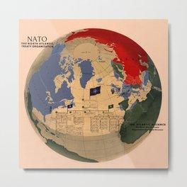 Map Of N.A.T.O 1955 Metal Print