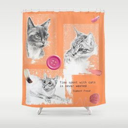 Cats and psychoanalysis Shower Curtain