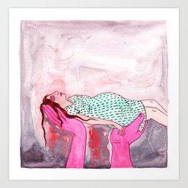 Pink Hands Art Print