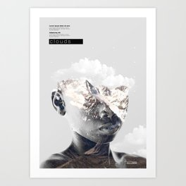 Clouds -kid Art Print