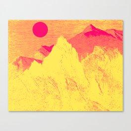 Hast thou no voice, O Peak Canvas Print