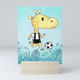 Soccer Giraffe Mini Art Print