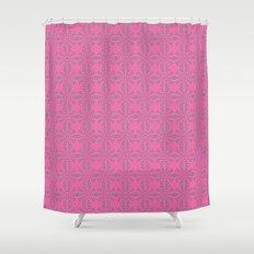 Dragonfruit Pink Circles Shower Curtain