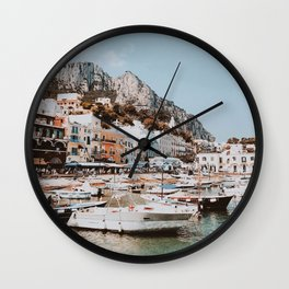 banchinella porto, italy Wall Clock