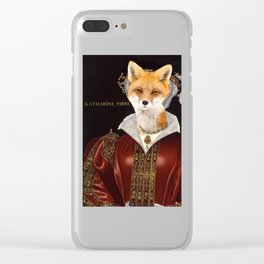 Katherine Parr Clear iPhone Case