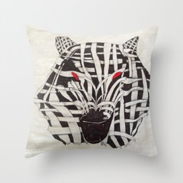 Mummy Wolf Throw Pillow