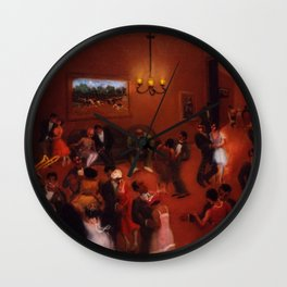 African American Masterpiece 'Stomp - Chicago's Jazz Age' by Archibald Motley Wall Clock