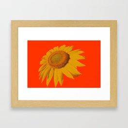 Dancing Sunflower Framed Art Print