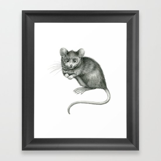 Funny mouse SK049 Framed Art Print