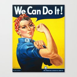 Rosie The Riveter -- We Can Do It Canvas Print