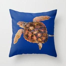 Loggerhead turtle Throw Pillow