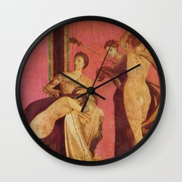 Villa Of Mysteries Pompeii Wall Clock