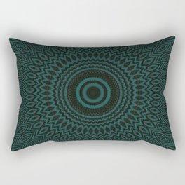 Mandala Fractal in Teal Study 04 Rectangular Pillow