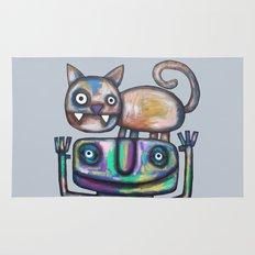 Juggler with Cat Rug