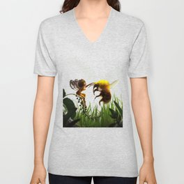 Faerie and Bee Unisex V-Neck