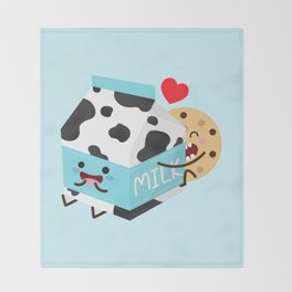 Milk and Cookie Throw Blanket