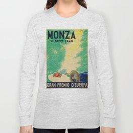 Grand Prix Monza, 1949, Gran Premio Monza, vintage poster Long Sleeve T-shirt