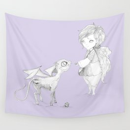 Luna Lovegood and baby thestral Wall Tapestry