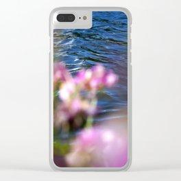 Purple Flower Peekaboo at the Lake Clear iPhone Case