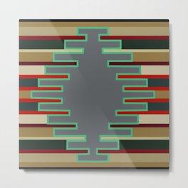 American Native Pattern No. 90 Metal Print