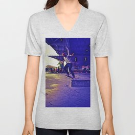 Colorful Skater Unisex V-Neck