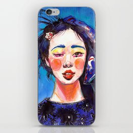 Fashion - Blue Spring iPhone Skin