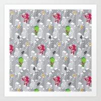 Cute disaster pattern Art Print