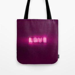 Love Neon Sign Tote Bag